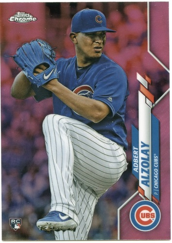 Photo of 2020 Topps Chrome Pink Refractors #110 Adbert Alzolay