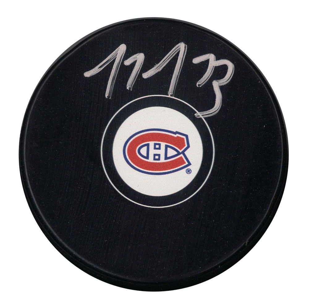 Tyler Toffoli Signed Puck Canadiens