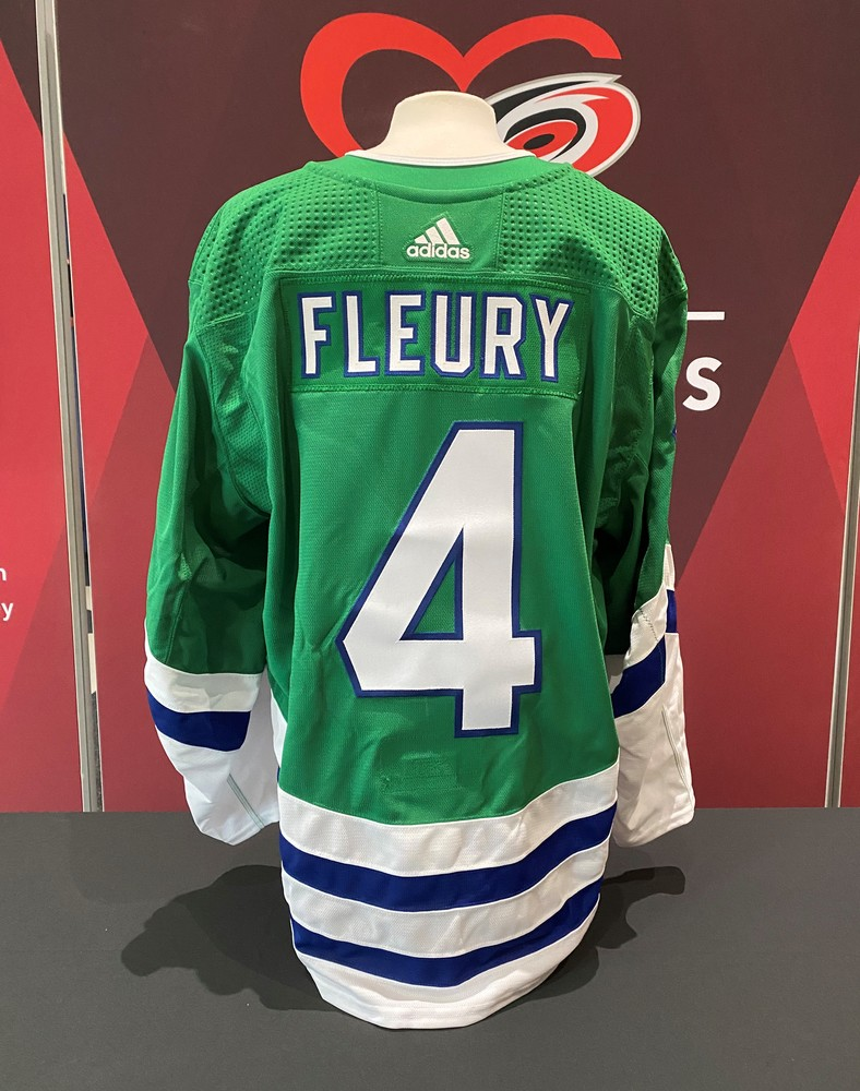 Haydn Fleury #4, Player-Issued Whalers jersey
