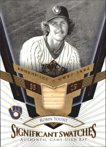 Photo of 2004 SP Legendary Cuts Significant Swatches #RY Robin Yount Bat