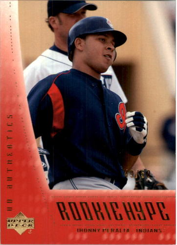 Photo of 2003 UD Authentics Rookie Hype Gold #110 Jhonny Peralta RH