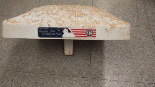 Authenticated Game Used Base from  September 11th 2016 vs Boston Red Sox, David Oritz Final Game at the Rogers Centre - innings 1-3
