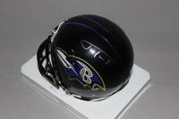 NFL - RAVENS JUSTIN TUCKER SIGNED RAVENS MINI HELMET