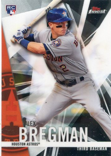 Photo of 2017 Finest #89 Alex Bregman Rookie Card
