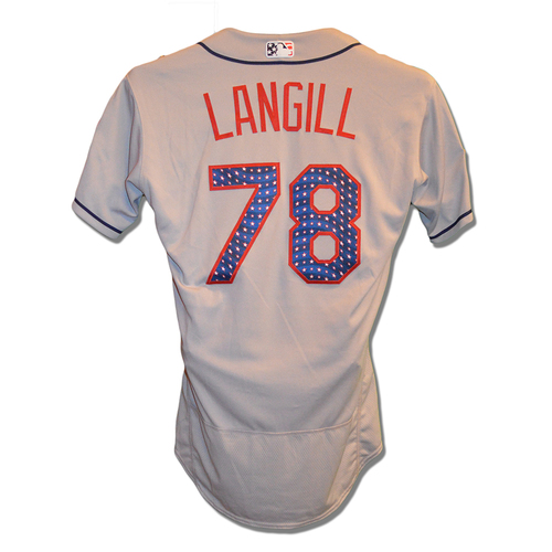 Photo of Eric Langill #78 - Game Used 4th of July Jersey - Mets vs. Blue Jays - 7/4/18