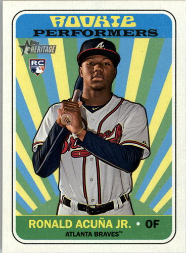 Photo of 2018 Topps Heritage Rookie Performers #RPRA Ronald Acuna Jr.