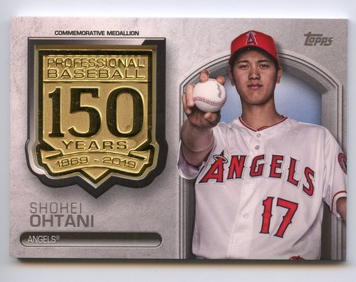 Photo of 2019 Topps 150th Anniversary Manufactured Medallions  Shohei Ohtani