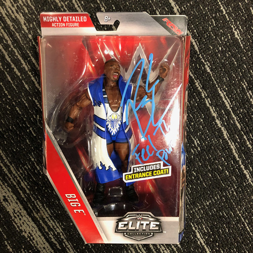 Big E SIGNED Elite Series Action Figure