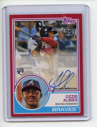 Photo of 2018 Topps '83 Topps Autographs Red #83AOAL Ozzie Albies 24/25