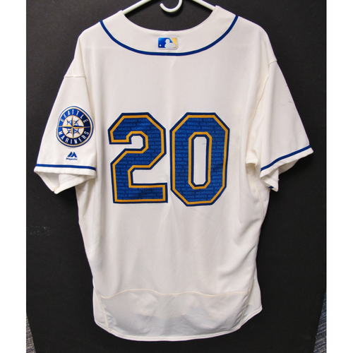 Photo of Seattle Mariners Daniel Vogelbach Game-Used Marineros Jersey (Salute to Latin American) 9-15-2019