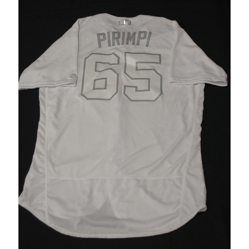 "Photo of Yohander ""PIRIMPI"" Mendez Texas Rangers Team-Issued 2019 Players' Weekend Jersey"