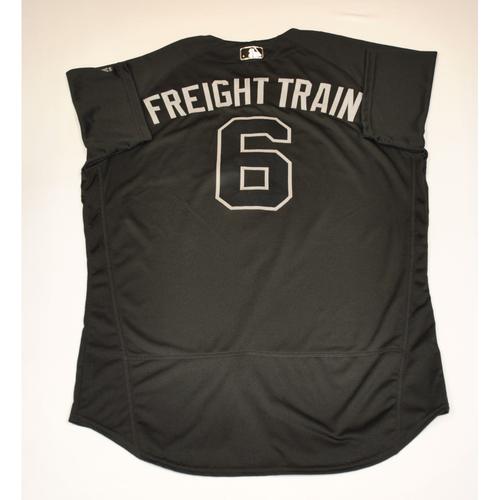 "Photo of David ""FREIGHT TRAIN"" Peralta Diamondbacks 2019 Game-Used Players' Weekend Jersey"