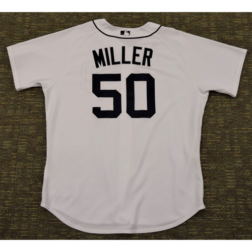 Photo of Andrew Miller Clubhouse Issued Detroit Tigers #50 Home Jersey (NOT MLB AUTHENTICATED)