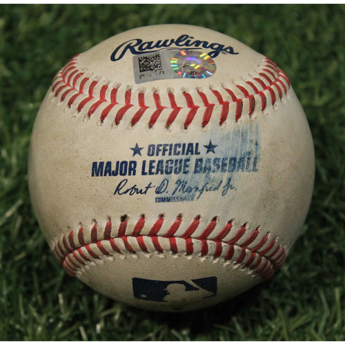 Photo of Game-Used Baseball: Tyler Chatwood 617th Career Strikeout (CHC @ KC 8/6/20)