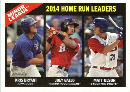 Photo of 2015 Topps Heritage Minors #199 Joey Gallo/Matt Olson/Kris Bryant LL