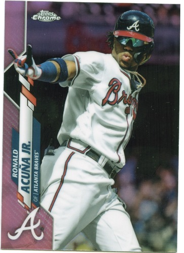 Photo of 2020 Topps Chrome Pink Refractors #112 Ronald Acuna Jr.