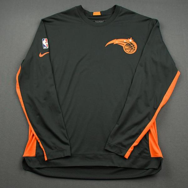 Image of Jonathan Isaac - Orlando Magic - Game-Issued Earned Edition Game Theater Shooting Shirt  - 2019-20 NBA Season