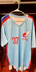 Photo of Jacksonville Expos Fauxback Jersey #37 Size 50