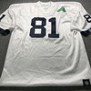 Legends - Raiders Tim Brown Signed Replica Jersey size XL with Super Bowl 53 Tazon Latino Patch