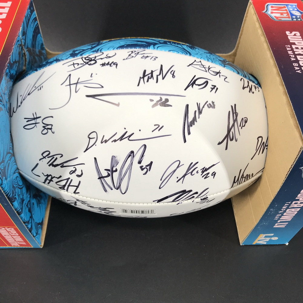 NFL - Chiefs Team Signed Super Bowl 55 Panel Ball Signed by Patrick Mahomes, Andy Reid, Travis Kelce, Tyrann Mathieu and more