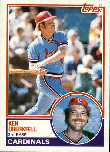 Photo of 1983 Topps #206 Ken Oberkfell