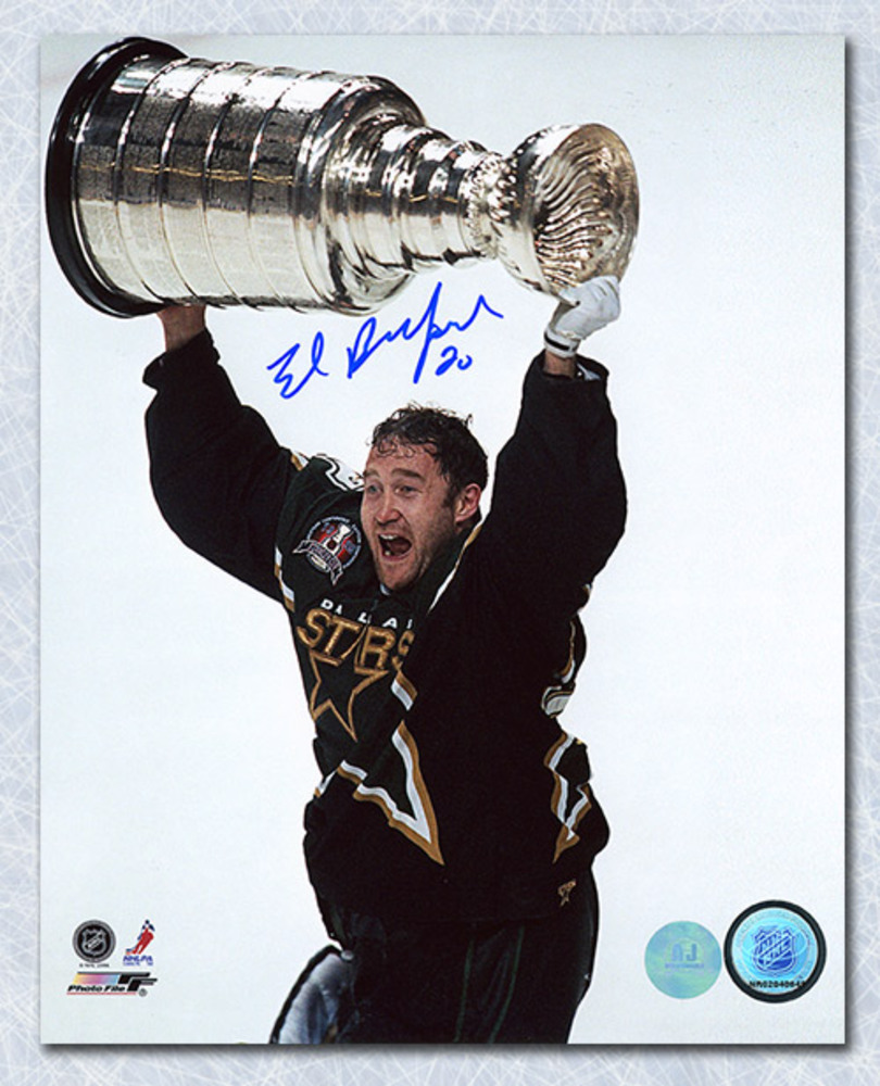 Ed Belfour Dallas Stars Autographed 1999 Stanley Cup 8x10 Photo