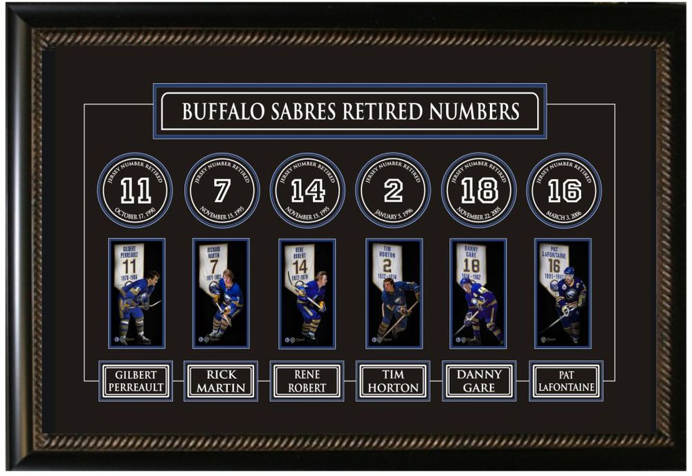 Buffalo Sabres Retired Numbers Banner Frame