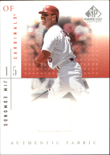 Photo of 2001 SP Game Used Edition Authentic Fabric #JE Jim Edmonds DP