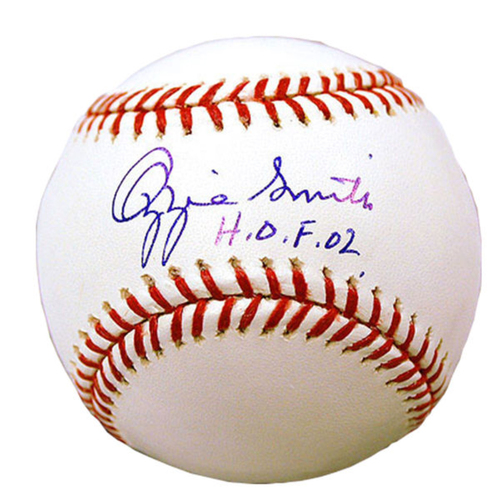 Photo of Cardinals Authentics: Ozzie Smith HOF 02 Inscribed Autographed Baseball