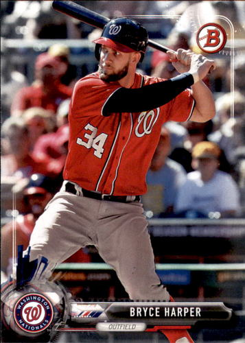 Photo of 2017 Bowman #3 Bryce Harper -- Nationals post-season