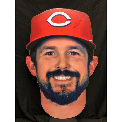 Photo of Sam LeCure Autographed Fathead from Findlay Market Opening Day Parade Grand Marshall