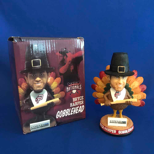 "Photo of UMPS CARE AUCTION: Bryce Harper Potomac Nationals ""Gobblehead' Figurine"