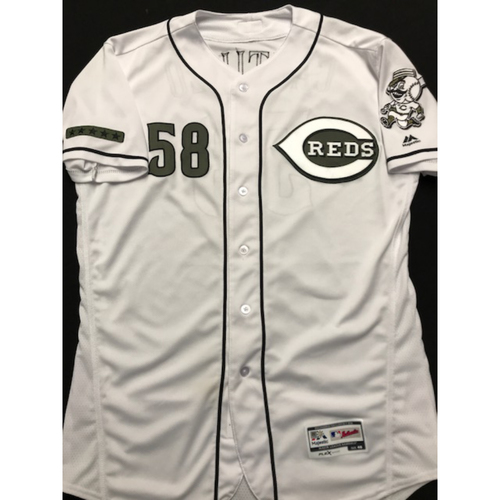 Photo of Luis Castillo - Game-Used - Military Appreciation Jersey (Worn: 2018)