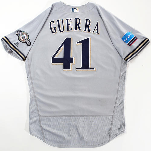 Photo of 2018 Japan Series Game-Used Jersey - Junior Guerra - Size 46