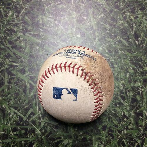 Photo of Game-Used Baseball LAD@MIL 08/16/11 - Yovani Gallardo - Matt Kemp: Foul