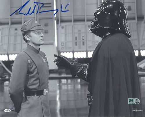 Michael Pennington As Moff Jerjerrod 8x10 Autographed in Blue Ink