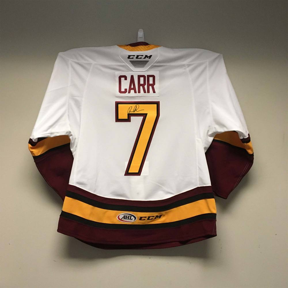 Chicago Wolves Regular Season Jersey worn and signed by #7 Daniel Carr