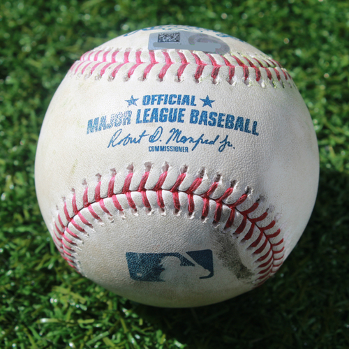 Game-Used Baseball: Daniel Vogelbach 6th Career Double (SEA @ KC - 4/9/19)