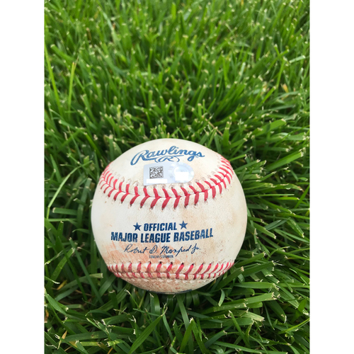Cardinals Authentics: Game Used Baseball Pitched by Aaron Nola to Dakota Hudson, Matt Carpenter, Paul Goldschmidt *Hudson Strike out, Carpenter Strike out, Goldschmidt Foul*