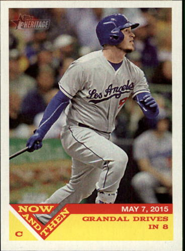 Photo of 2015 Topps Heritage Now and Then #NT13 Yasmani Grandal