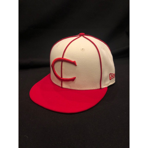 Cristian Perez -- Game-Used Cap -- 1912 Throwback Game -- Dodgers vs. Reds on May 19, 2019