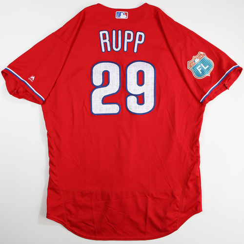 Photo of 2016 Spring Training - Spring Training Game Used Jersey - Cameron Rupp (Phillies)- Size- 50