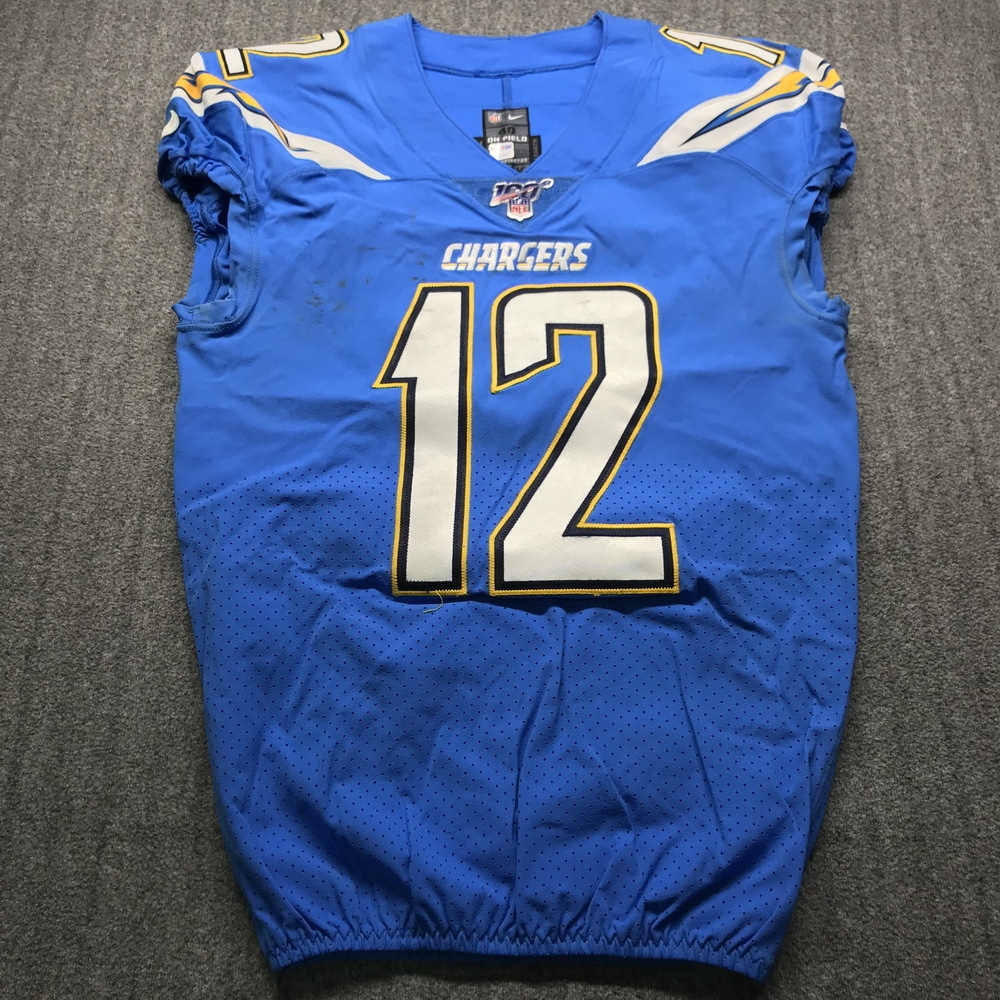 NFL Auction | Crucial Catch - Chargers Travis Benjamin Game Used ...