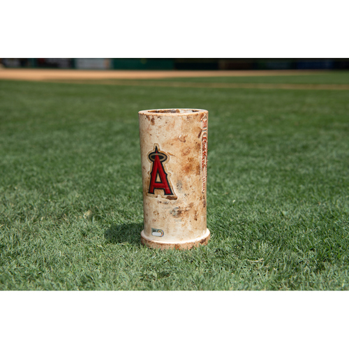 Game Used Los Angeles Angels Bat Weight