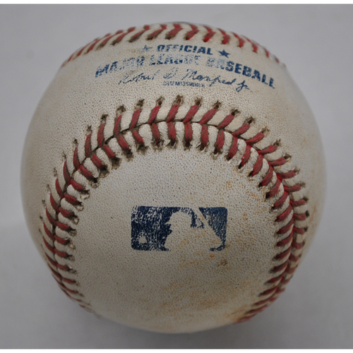 Photo of Game-Used Baseball - 2020 NLCS - Atlanta Braves vs. Los Angeles Dodgers - Game 7 - Pitcher: Julio Urias, Batter: Ozzie Albies (Groundout to SS) - Top 9