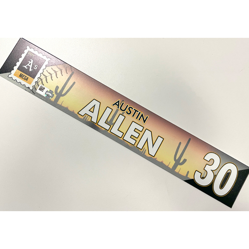 Photo of Game-Used 2021 Spring Training Locker Nameplate - Austin Allen