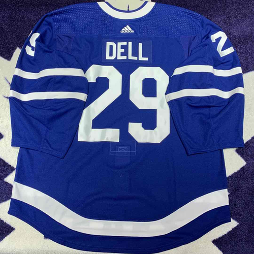 #29 Aaron Dell Game Issued Jersey (Blue 58G)