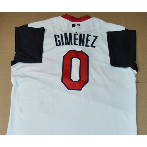 Photo of Game-used Jersey - 2021 Little League Classic - Los Angeles Angels vs. Cleveland Indians - 8/22/2021 - Great Lakes, Andres Gimenez #0