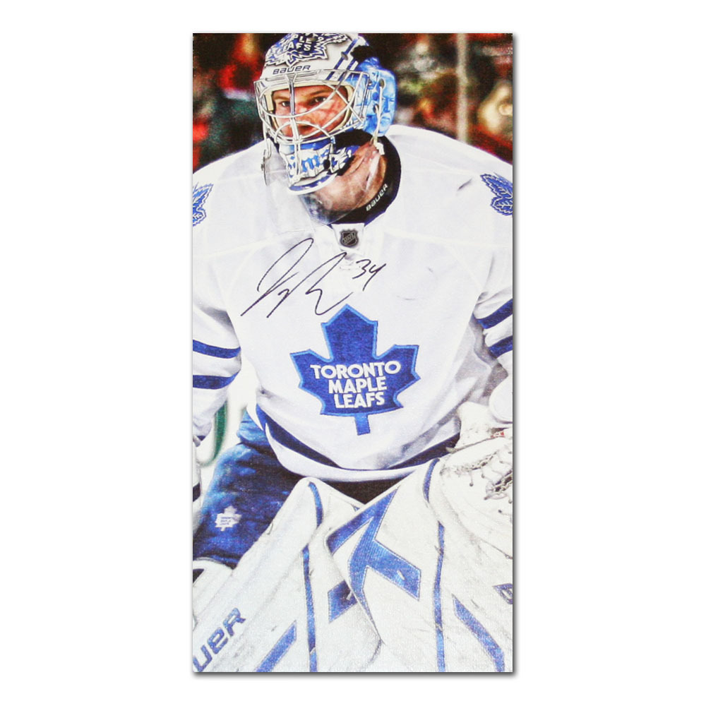 James Reimer Autographed Toronto Maple Leafs 14X28 Canvas