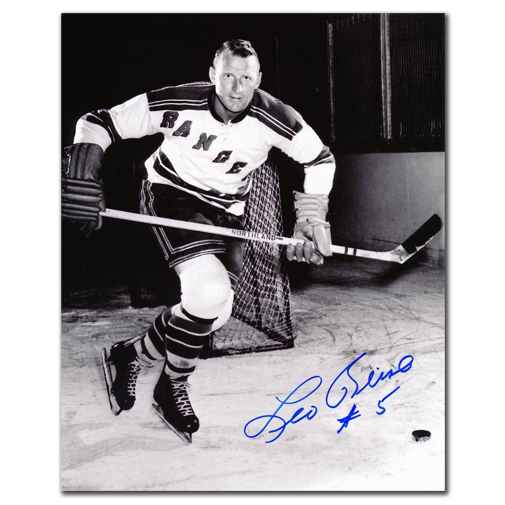 Leo Reise New York Rangers Autographed 8x10